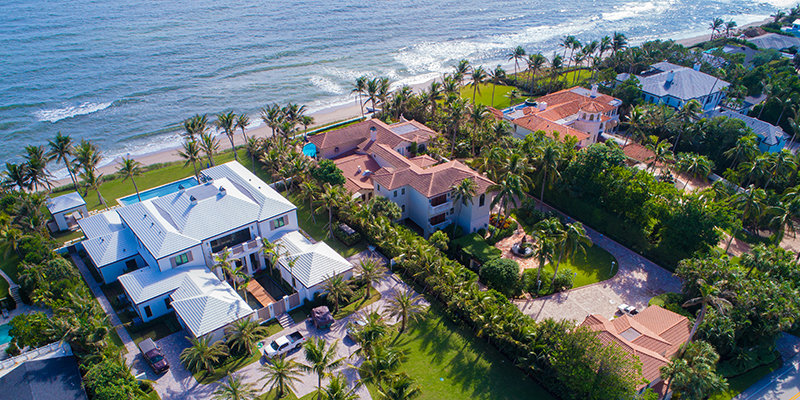 Beachfront Homes in Palm Beach
