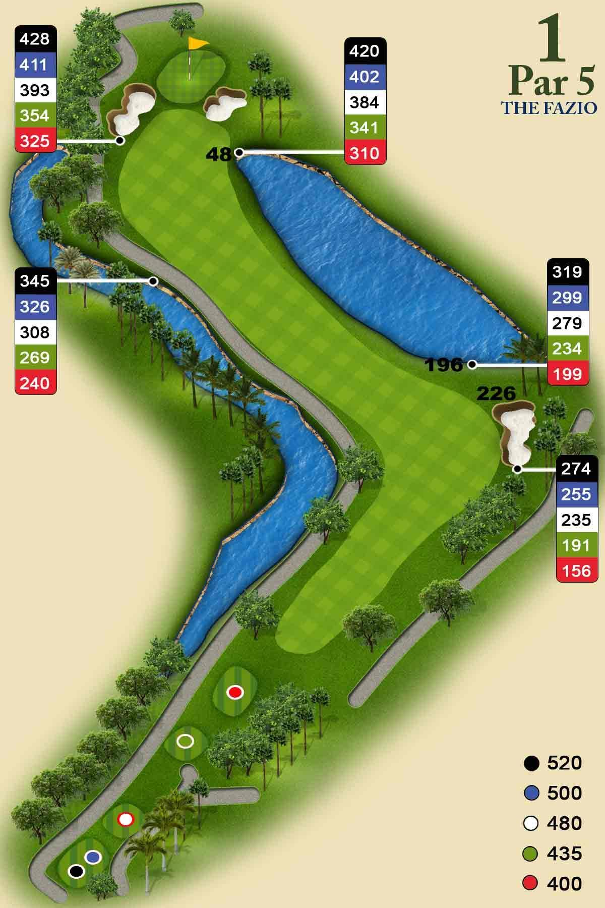 Fazio Course Hole #1. PGA National ...
