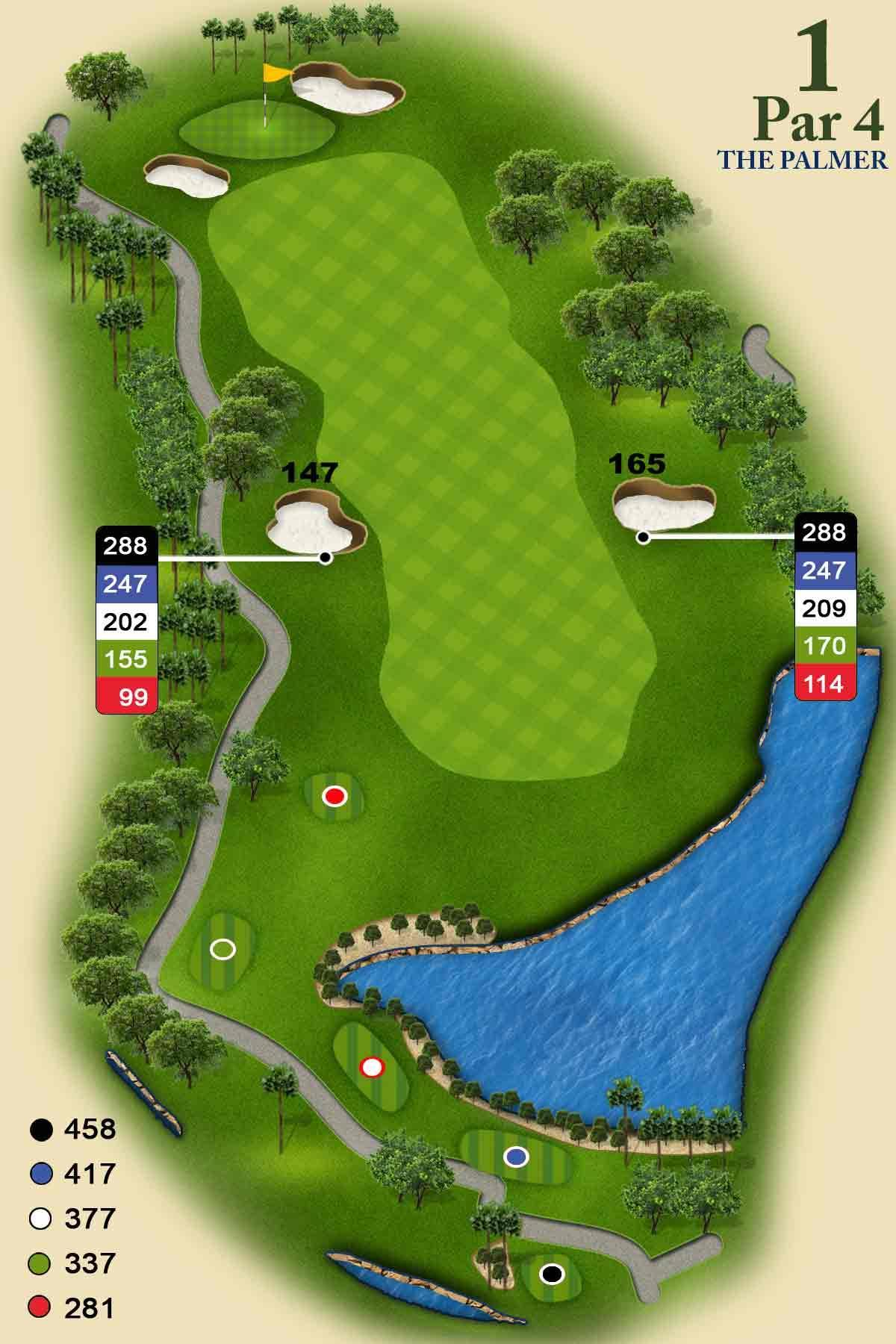 Palmer Course Hole #1. PGA National ...